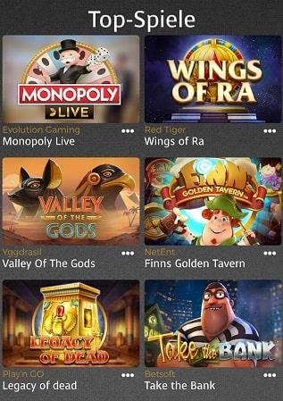 offre de jeux supplementaires de casino