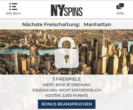 campagnes de bonus nyspins et programme vip