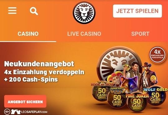 bonus de casino leovegas