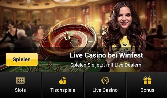test de casino winfest
