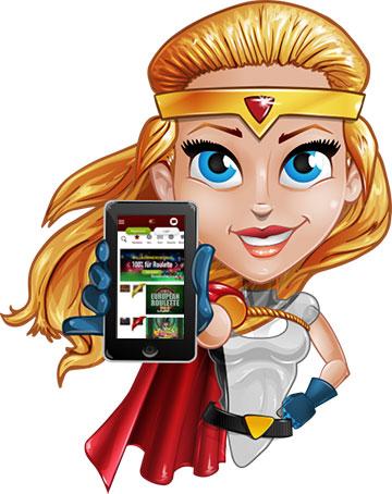 site Web de l'application mobile du club de casino