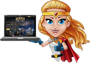 application de site Web de jackpot village