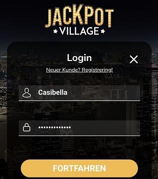 inscription de connexion au village jackpot