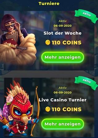 pieces de tournois de casino wazamba