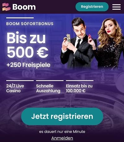 Bonus de Boom Casino
