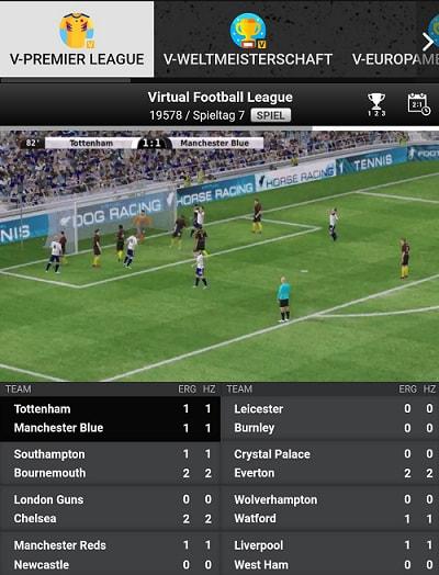 sport virtuel betinia